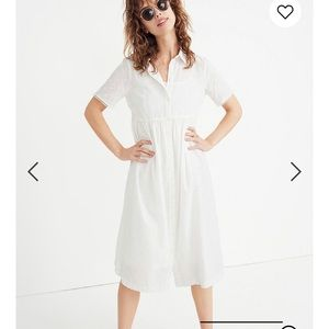 Madewell shirt dress white xs